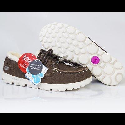 美國SKECHERS 休閒鞋 Go Walk Lite-ONYX 女鞋 內裡抓絨 保暖 健走 帆船鞋  37號