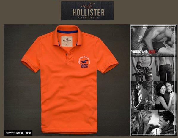 有型男~ A&F 副牌 Hollister 2013 春夏精典海鷗logo Embarcadero Polo orange 粉橘 真品 現貨 S M L XL