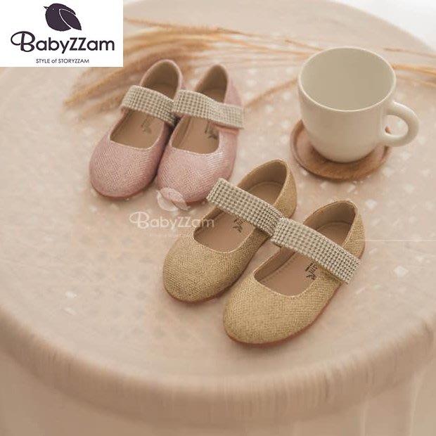 『※妳好,可愛※』妳好可愛韓國童鞋 BABYZZAM~正韓 時尚款水鑽珍珠娃娃鞋 女童鞋 韓國童鞋