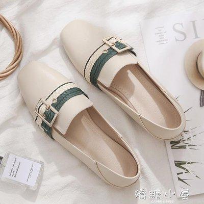 豆豆鞋秋季新款方頭樂福鞋女英倫風小皮鞋平底豆豆鞋單鞋網紅女鞋子