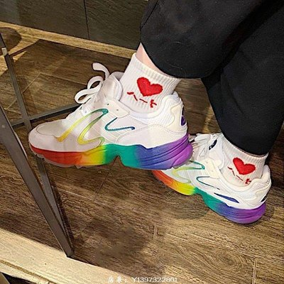 Adidas YUNG-96 CHASM 經典 時尚 潮流 緩震 白色 彩虹 休閒 運動 慢跑鞋 EG3962 男女鞋