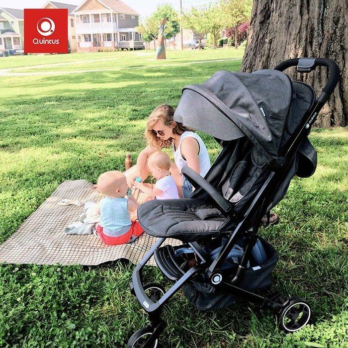 Quintus/Qtus昆塔斯  嬰兒推車 Q3一鍵折疊 可坐可躺  輕便 嬰兒車 傘車