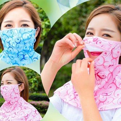 抗UV透氣護頸防晒口罩 抗UV防曬防塵口罩(印花)-艾發現
