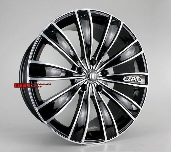 【小茵輪胎舘】日本 正品 DAD GLAIVE 鋁圈19吋 5孔114 8J+9J ET35/38/25 黑車面