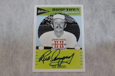 傳奇球星~Rick Dempsey~2013 Panini Hometown Heroes Auto 親筆簽名卡~金鶯隊