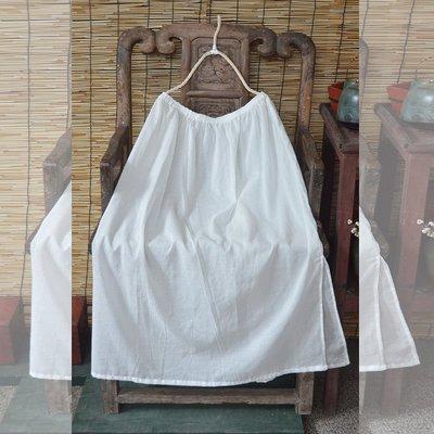 (老銀屋)鬆緊帶純棉內搭開衩襯裙/純內搭使用