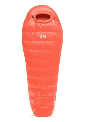 【戶外便利屋】新款 BlackICE 黑冰 B400輕量600FP羽絨睡袋 (2~13℃)/登山露營兩用(紅色M)