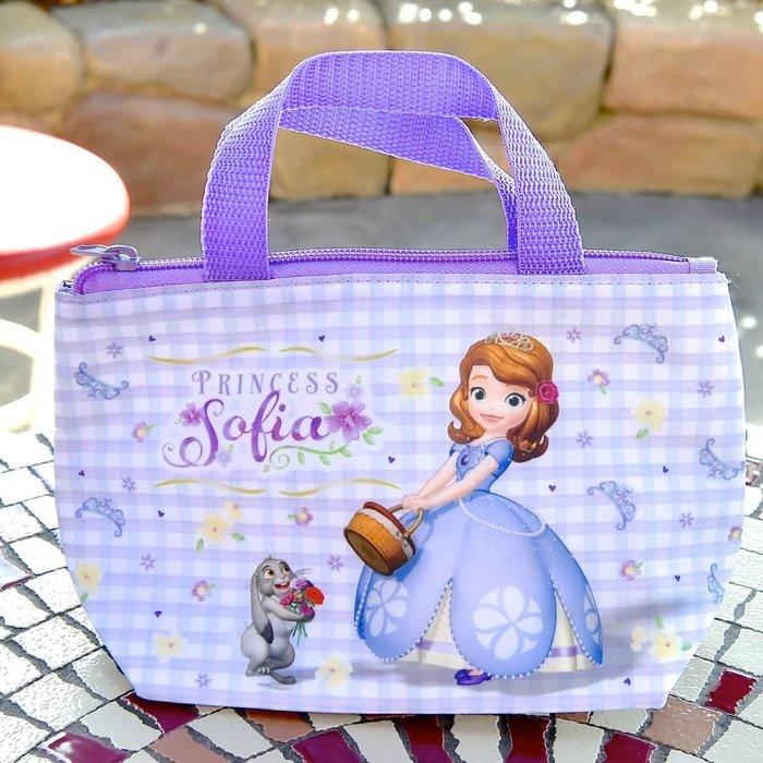 Ariel Wish日本東京迪士尼小公主蘇菲亞Sofia皇冠紫色保溫便當袋保冷袋午餐袋手提袋野餐袋外帶包-絕版品最後一個