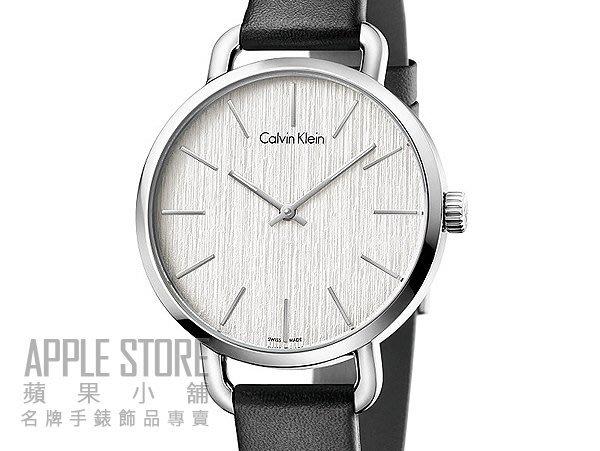 ~蘋果小舖~Calvin Klein EVEN 木紋簡約 女仕皮帶錶~銀白 36mm K7