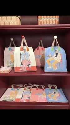 Gucci Garden 佛羅倫斯限定 Hand Printed Linen Tote 藝術家系列麻布袋