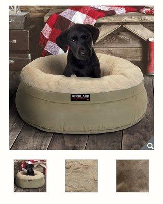 【多娜代購】Kirkland Signature 科克蘭 24吋圓形寵物睡窩 卡其色/適合小型犬及貓咪/柔軟內層布料讓寵物更舒適,床套可拆除清洗/好市多代購