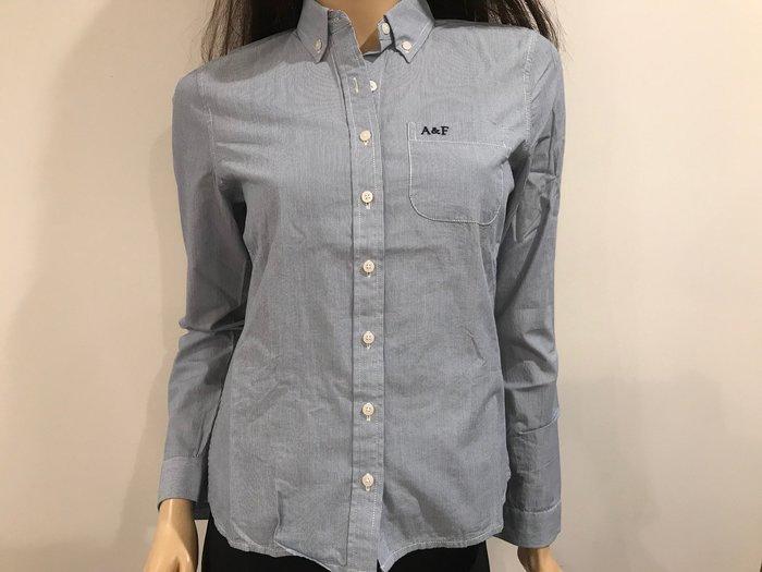 【天普小棧】A&F Abercrombie&Fitch Marisa Shirt長袖細條紋襯衫S/M號