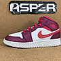 【Asper】Air Jordan 1 Mid GS 情人節 女鞋...