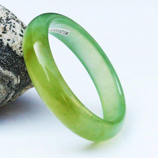 冰種藍田玉手鐲 玉石玉器女款手鐲 碧綠通透玉鐲子 F24