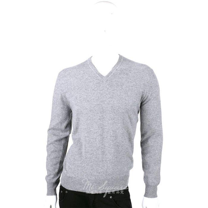米蘭廣場 ALLUDE 100% CASHMERE 肘拼接設計V領毛衣(灰色) 1440553-06