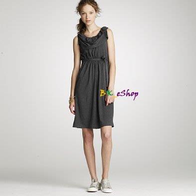 【美衣大鋪】Jcrew☆ J.Crew 正品☆Dressy jersey ruffle-neck dress 洋裝~黑色