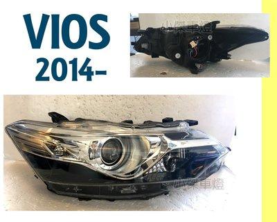 小傑車燈精品--全新 VIOS 14 15 16 2014 2015 2016 年 泰版 黑框 投射 魚眼 大燈 頭燈