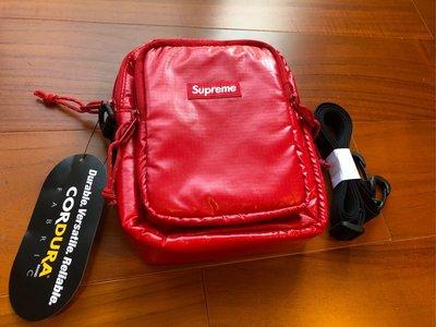 Supreme 17FW 43th shoulder bag 紅色 防潑水 肩包 小包