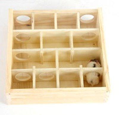 【監獄寵物館】木製寵物鼠迷宮
