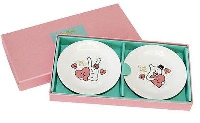 尼德斯Nydus~* 日本正版 宇宙人 Wedding Craft 結婚禮盒 SLOTH x RAB 盤 / 碟 餐具組