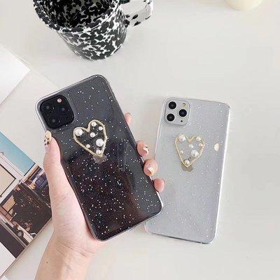 ☆韓元素╭☆Mobile-Style 珍珠愛心造型 iPhone 11 保護套 6.1吋 軟式保護殼 透明 愛心 軟殼