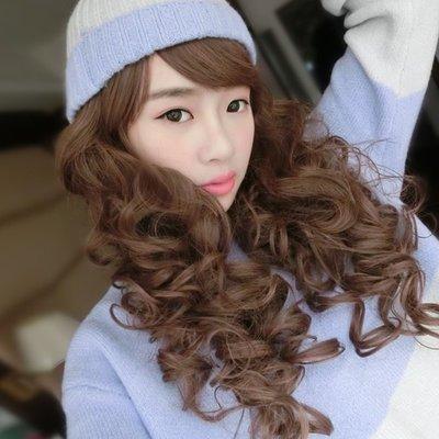 溫暖係女孩 洋娃娃蓬鬆長捲髮【710-80】雙兒網