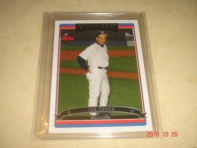 美國職棒 Yankees Manager Joe Torre 2006 Topps #587 球員卡