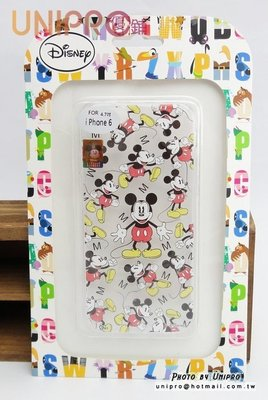 UNIPRO iPhone6 4.7吋 迪士尼 滿版 米奇 米老鼠 透明 TPU 手機殼 保護套