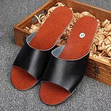 牛皮拖鞋夏季居家室内男女情侣真皮凉拖防滑防臭耐脏  牛皮鞋面, 牛筋底大底,时尚耐穿耐脏防滑防臭,品质好