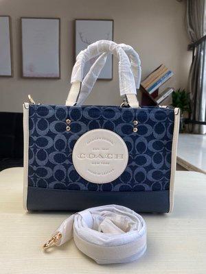 【COACH代購館】美國正品COACH 2826 empsey丹寧藍牛仔布托特包 購物袋 手提袋 挑戰網絡最低價 可批發