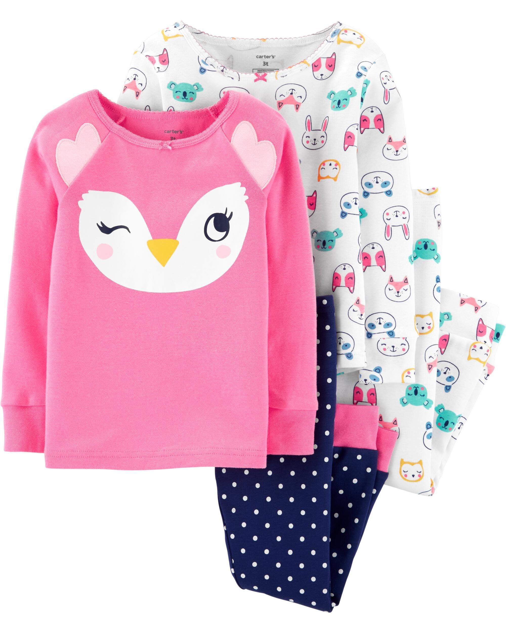 MIABABY 美國童裝 Carters 小女童動物睡衣2套組 5T 現貨