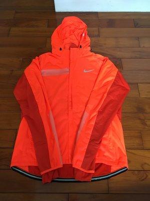 全新 NIKE WINDSHIELD 防風 連帽 高機能 風衣 慢跑 運動 外套 橘 男 619434-853