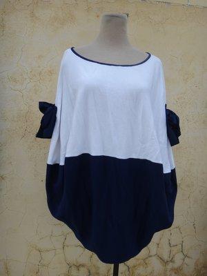 jacob00765100 ~ 正品 謝依玲 ECoDE.E 藍白色 造型針織衫 size: L 台中市