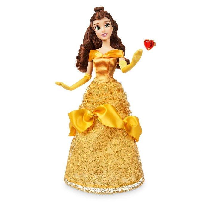 【100%美國迪士尼正品】Disney Princess Belle 美女與野獸 貝兒公主 附戒指 芭比娃娃 玩偶