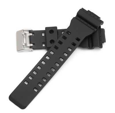 Casio G-shock Replacement Black Rubber Strap卡西歐 G-shock 代用防撞黑色膠帶