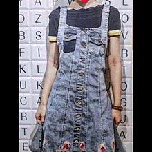 IROO  懷舊感繡花牛仔洋裝      尺寸38           低價2380