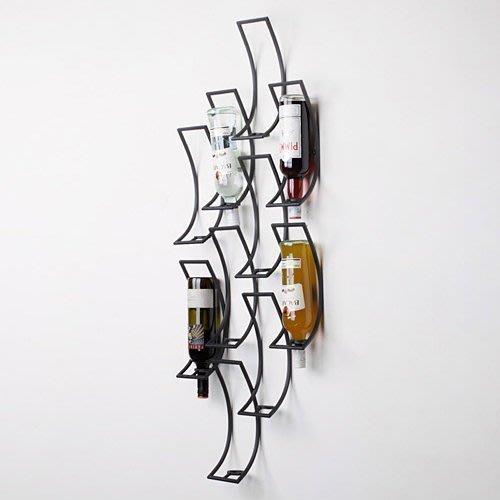 【易發生活館】新品歐式創意個性墻上壁掛酒架酒吧吧臺藝術紅酒架擺件壁掛式現代簡約 居家用品廚房用品