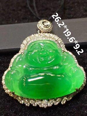 胶感正阳绿翡翠佛公  厚装细腻 完美  1003