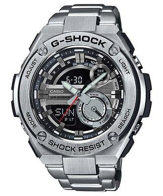 【EASYwatches】CASIO 卡西歐 G-SHOCK G-STEEL系列 GST-210D-1A 黑色面盤