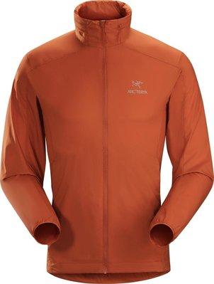 ARC'TERYX始祖鳥NODIN連帽防風外套 男裝 橘色Rooibos超輕便攜,適合越野旅行。