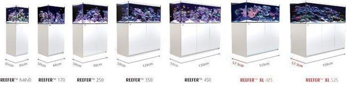 海葵達人* Red Sea紅海REEFER 350海水超白玻璃底濾魚缸120X50X53cm白色*實體店面購物有保障*