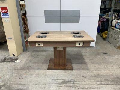 ✪樂芙二手貨✪ 4人火鍋桌 二手火鍋桌 電磁爐火鍋桌