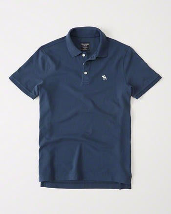 【蟹老闆】Abercrombie&Fitch 美國麋鹿 POLO衫 男生 藍色 另有黑色白色