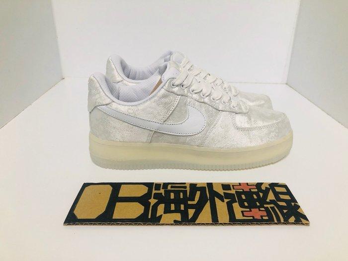 限定CLOT x Nike Air Force 1 Premium 聯名 AF1 白 絲綢 陳冠希 AO9286-100