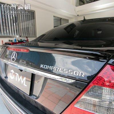 TWL台灣碳纖-Benz賓士-W211 03 04 05 06 07 08 09年 AMG款亮光黑 鴨尾尾翼 附3M膠條