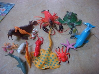 小猴子玩具鋪~ ST安全玩具~~15件海洋生物公仔家園套裝組~ :100元 組