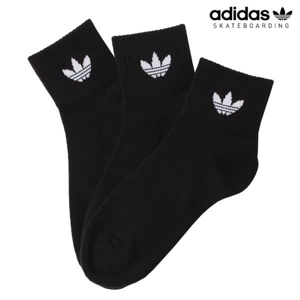 南◇2020 8月 Adidas Mid Cut Crew Socks FM0643 黑 白 3組入 毛巾底  男女款