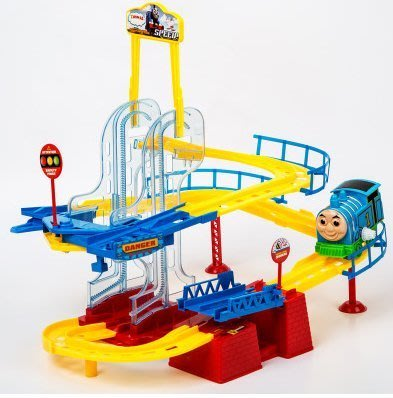 『格倫雅品』正版托馬斯小火車電動多層軌道車賽車套裝玩具兒童男孩3-4-5-6歲