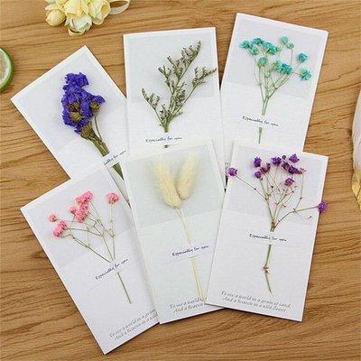 【創意蒐藏家】乾燥花創意賀卡 感謝留言賀卡 生日 母親節 祝福賀卡