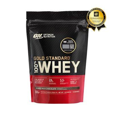 【美國ON】Gold Standard 金牌乳清蛋白1磅 + 造型杯刷